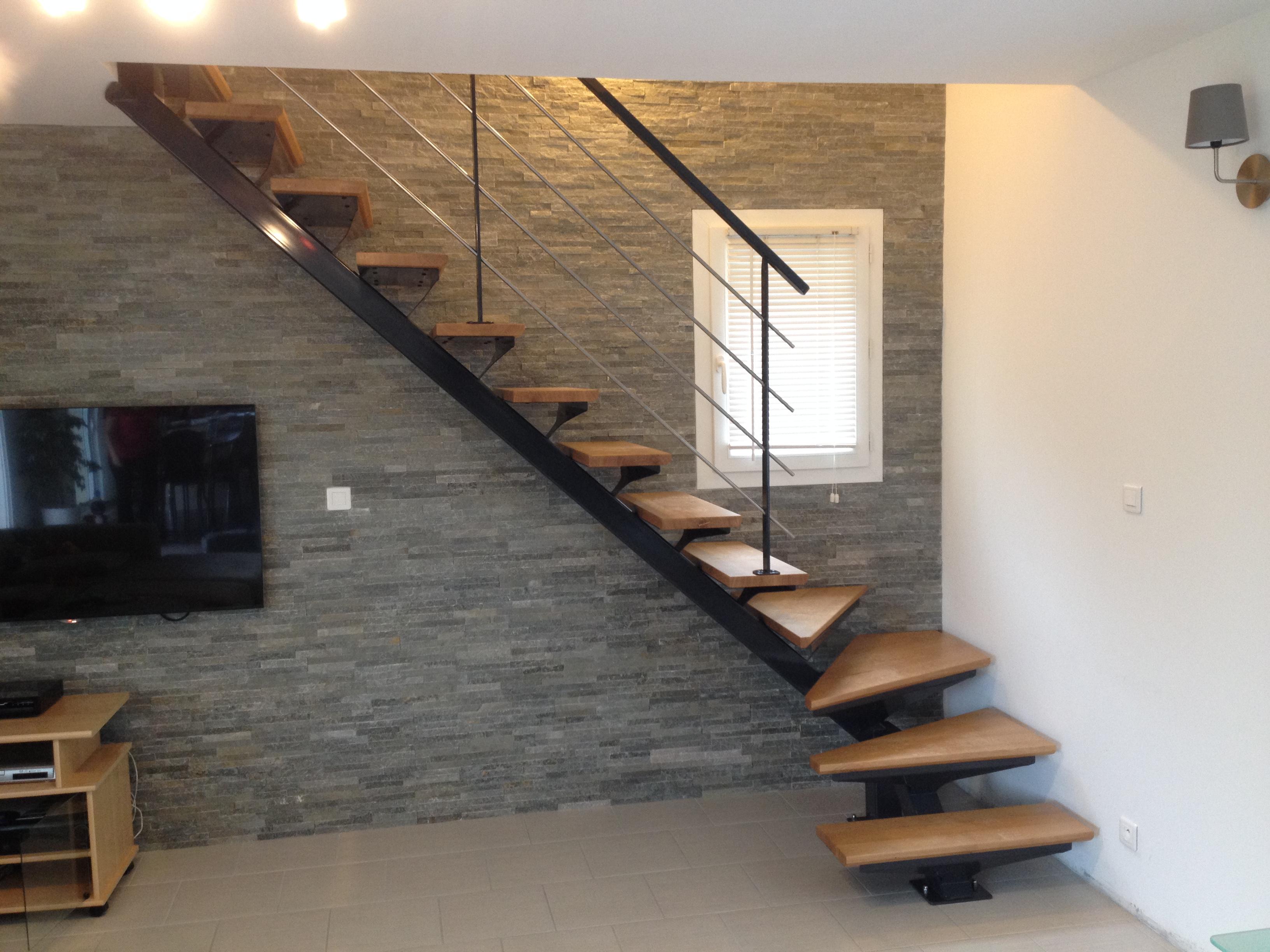 Escaliers entreprise rageau menuiserie m tallerie dans la vienne 86 - Escalier acier bois ...