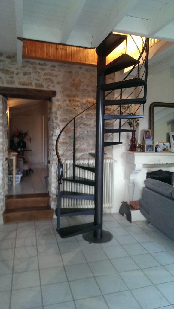 escalier en colimacon aluminium